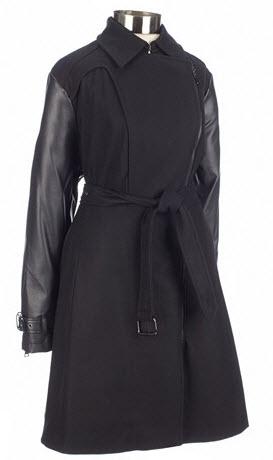 Plus Size Coat: Mixed Media GIACCA