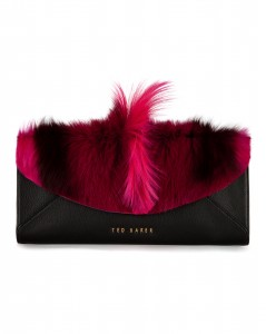 Ted Baker Moti Pink clutch