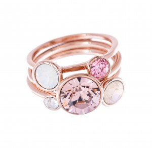 Ted Baker Jewel Stack Ring in Rose Gold