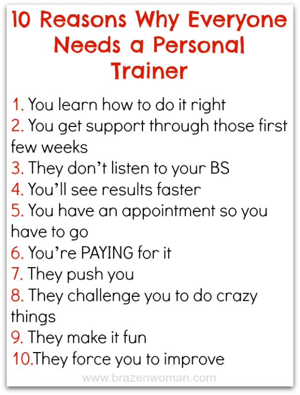 10 Reasons Why Everyone Needs  a Personal Trainer Poster