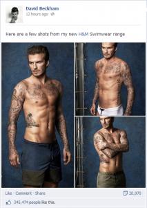 David Beckham Facebook