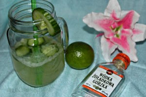 My Green Jar Vodka Cocktail made with Wódka Żołądkowa Gorzka