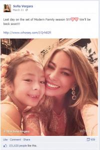 Sophie Vergara Facebook Page