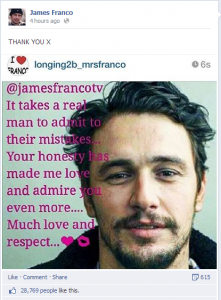 james franco facebook page