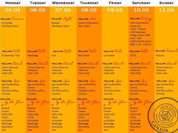 YellowWeek Toronto Program
