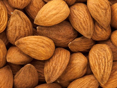 Almonds are good nuts that are worth the calories because they're full of good fats, minerals and fibre.
