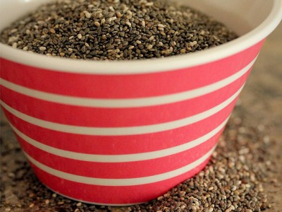 Chia Seeds: rich in antioxiants, minerals, fibre and protein and will help flatten your belly