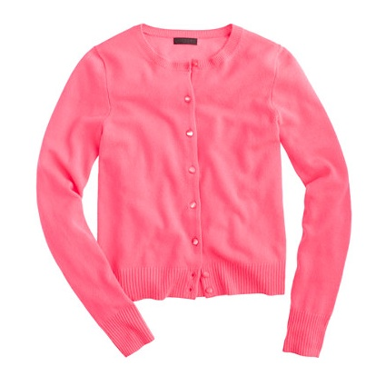 Cashmere Cardigan from J. Crew in Neon Dahlia $188.00
