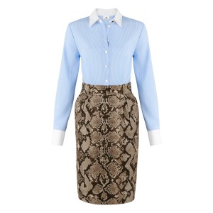 Dress in Banker Stripe, Python Print $49.99