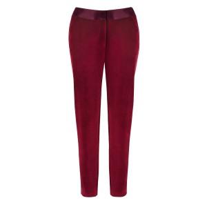Velvet Ankle Tuxedo Pant in Red $39.99