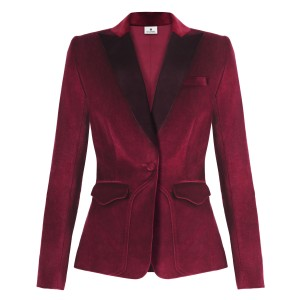 Velvet Blazer in Ruby Red $59.99