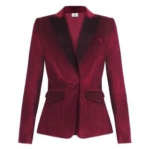 Velvet Blazer in Ruby Red $59.99