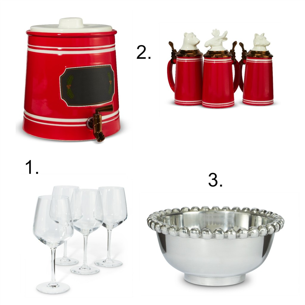 Setting up a Holiday Bar Cart