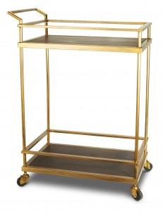Brass Bar Cart from Target