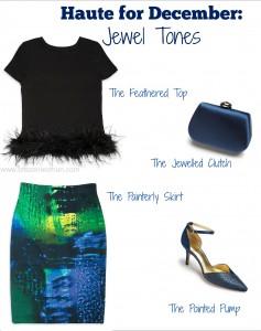 Haute for December Jewel tones & Embellishments