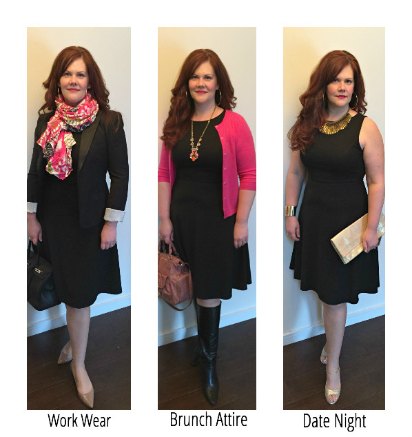 How to Wear One Go-Anywhere Dress 3 Ways