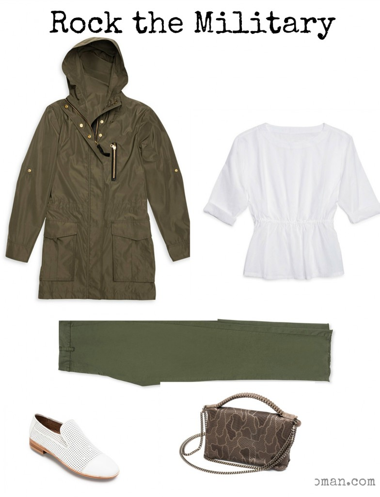 Rock the Spring Military Look, Outfit 2