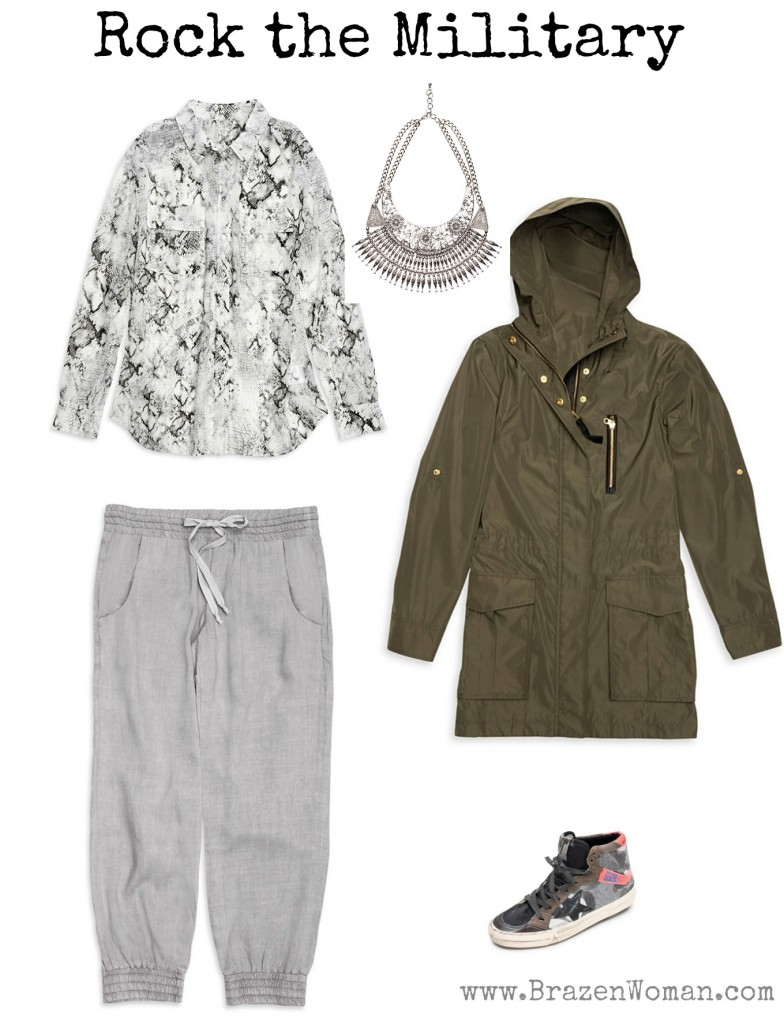 Rock the Spring Military Look, Outfit