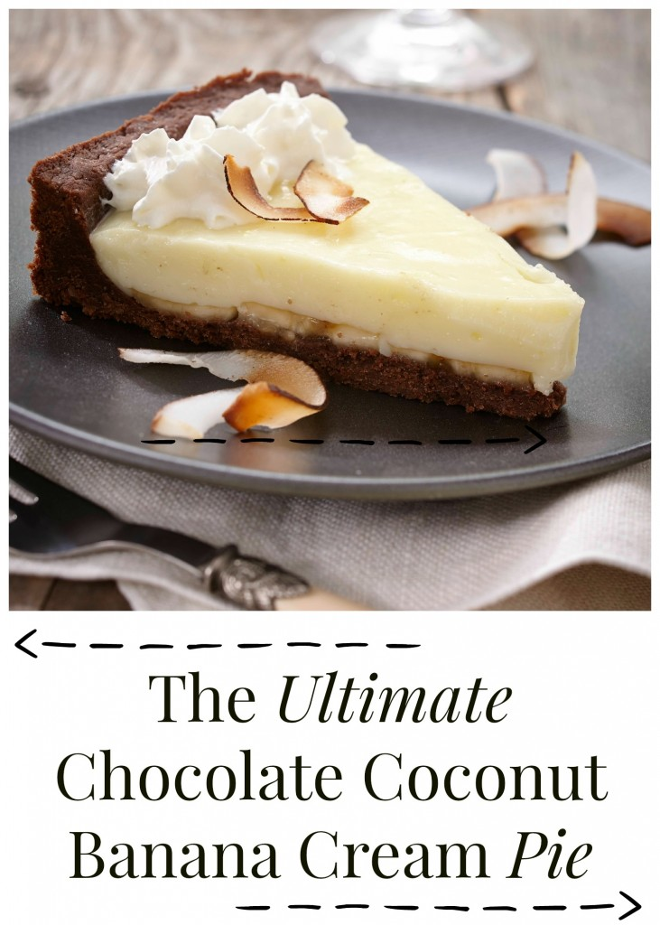 The Ultimate Chocolate Coconut Banana Cream Pie