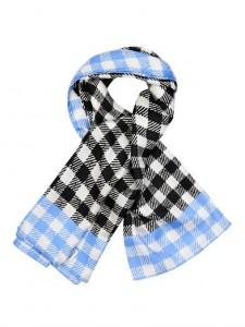 silk twill gingham scarf