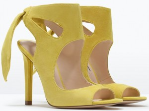 yellow leather sandal