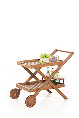 Tera Gear Wooden Bar Cart