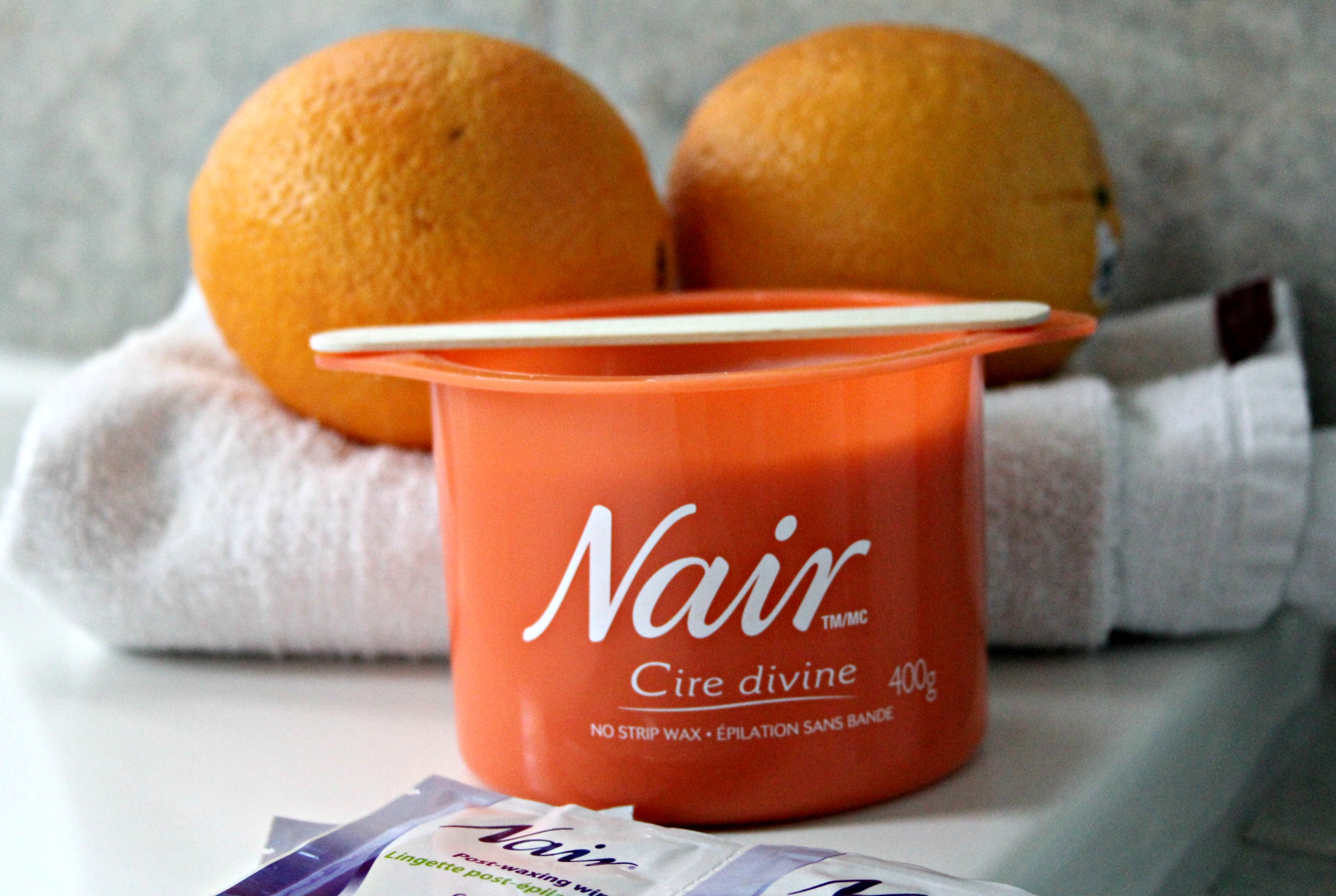 how to use nair wax