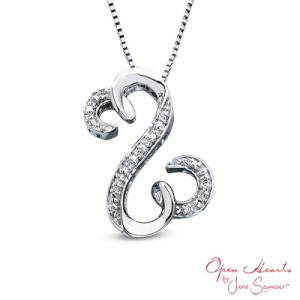 Jane Seymour Open Hearts Curlique Necklace