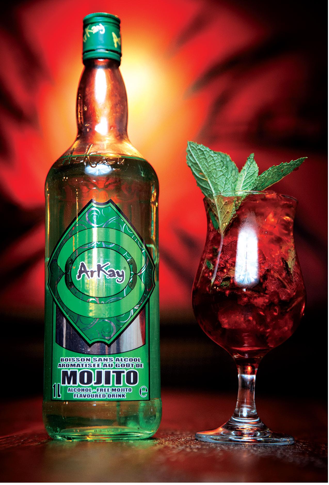 Mojito Mocktail: Arkay raspberry nojito