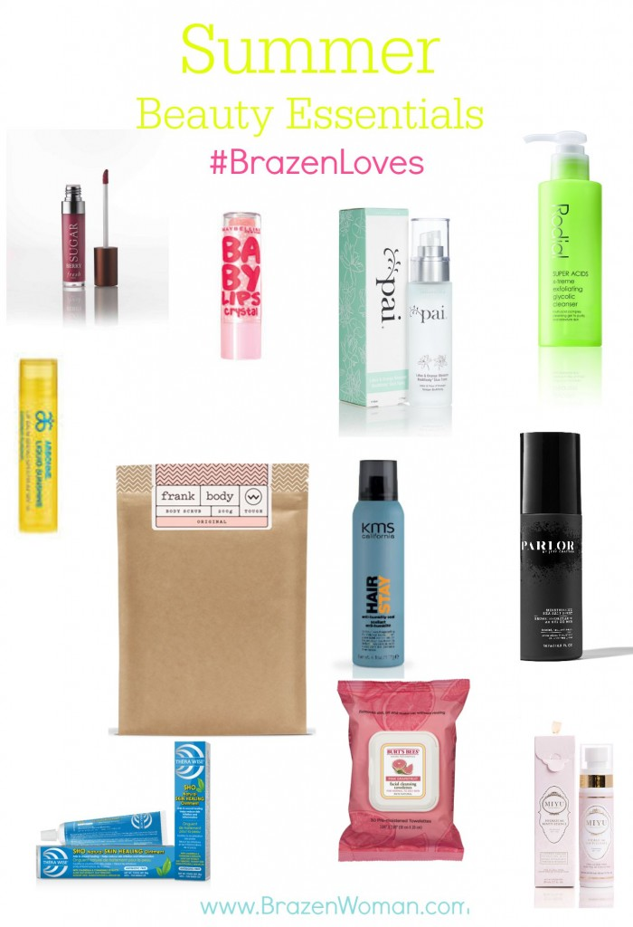#BrazenLoves Summer Beauty Essentials