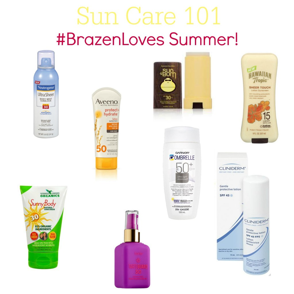 Suncare 101: What's in them and which ones do we love? #BrazenLoves