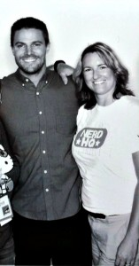Stephen Amell and Patricia Nerd HQ San Diego Comic Con 2014
