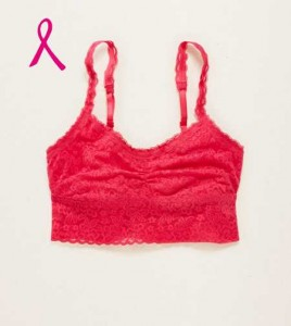 Aerie Bright Pink Bralette: ReThink Breast Cancer 2014
