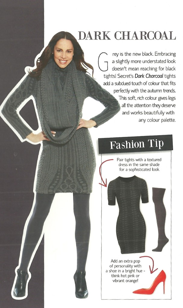 How to Wear Coloured Tights: Charcoal Tip Card