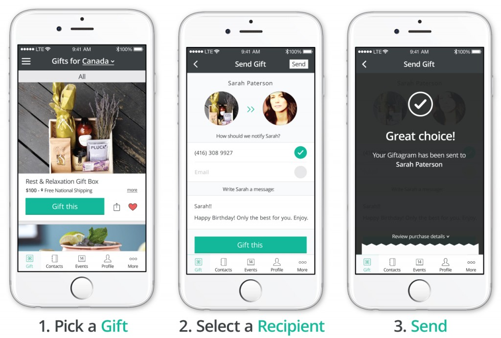 Giftagram App: Send the Perfect Gift Right from Your Screen