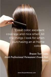 Brazen Test Team: DIY Your Dye with Gosh Professional Permanent Cream Hair Colour
