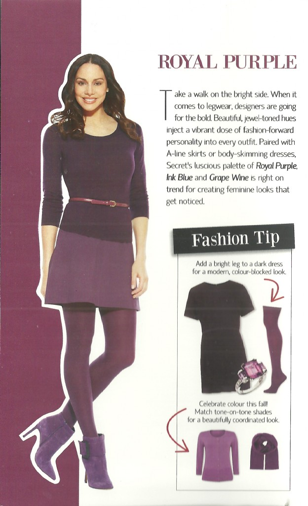 How to Wear Coloured Tights: Purple Tip Card