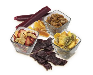 Dried fruit and beef jerky made in the hamilton beach food dehydrator