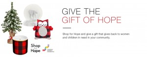 Support the Women's Foundation with Shop for Hope