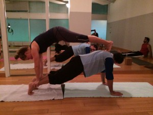 Couples Yoga Plank on Plank