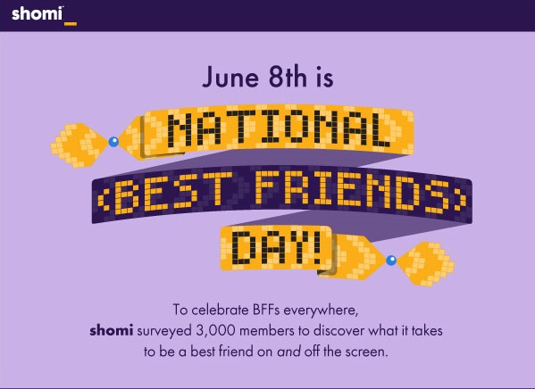Celebrating National Best Friends Day with TV on Shomi
