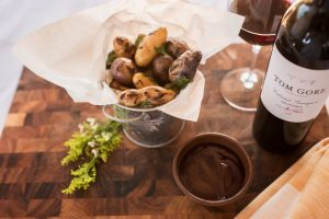 Party Recipe: Potatoes, Ketchup, Wine, Repeat