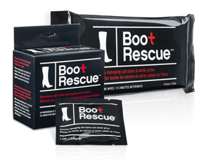 Boot Rescue all-natural boot cleaning wipes