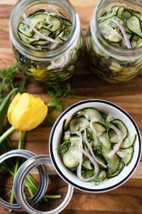 Spicy Cucumber Salad with Hamilton Beach 3-in-1 Spiralizer