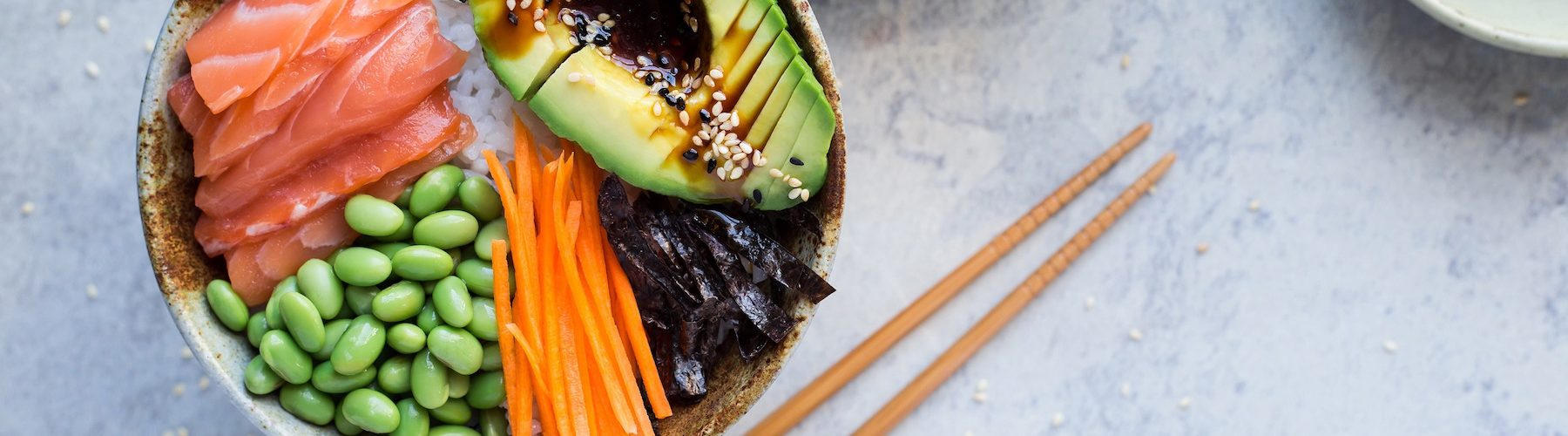 Bowl For Health: Avocado, Salmon and Edamame Sushi Bowl