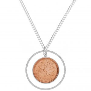 Brazen Loves: Citrus Silver Long Penny Necklace